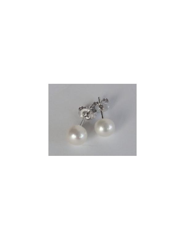 """Kolczyki """"pearl drop"""" z perłą Srebrne kolczyki z białą perłą """"pearl drop"""""""