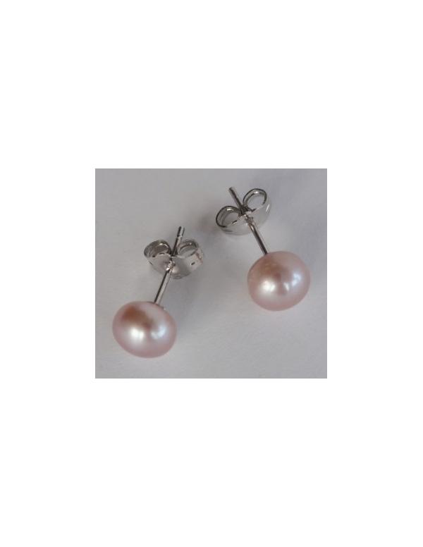 """Kolczyki """"perl drop"""" z perłą Srebrne kolczyki z perłą kremoworóżową """"pearl drop"""""""