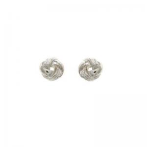 srebrne kolczyki węzeł średni
