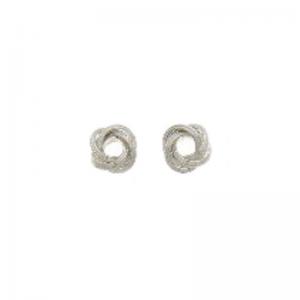 srebrne kolczyki węzeł mały fakturowane Srebrne kolczyki węzeł mały fakturowany