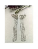 srebrne kolczyki wiszące z łańcuszkami Srebrne kolczyki wiszące z łańcuszkami