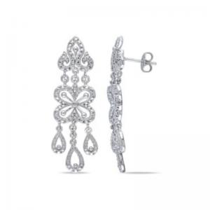 srebrne kolczyki z cyrkoniami długie