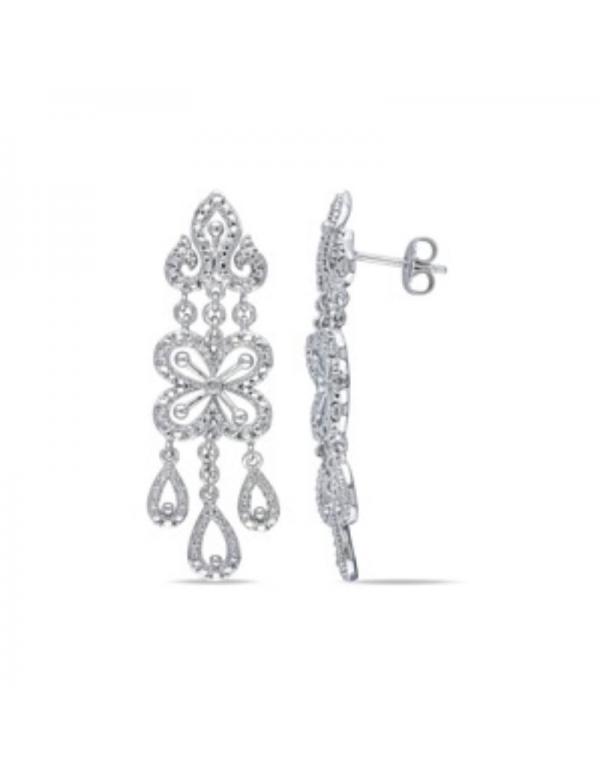 srebrne kolczyki z cyrkoniami długie Srebrne kolczyki z cyrkoniami długie