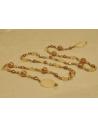Naszyjnik z pereł - złota zieleń