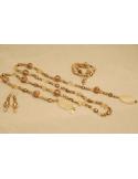 Naszyjnik z pereł - złota oliwka
