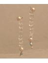"""Kolczyki z czarnym kryształem i perłą """" black crystal"""""""