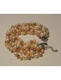 "KOmplet naszyjnik i bransoleta ""pearl goddess"" Komplet z pereł naszyjnik i bransoleta ""pearl goddess"""