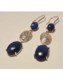 """Kolczyki z lapis lazuli """"noche azul"""" Srebrne kolczyki z lapis lazuli """"noche azul"""""""