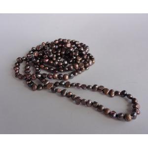 Naszyjnik z pereł - złote variete