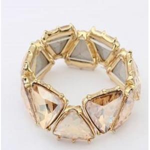 Bransoleta trójkąty kryształ