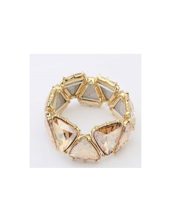 Bransoleta trójkąty kryształ Bransoleta trójkąty kryształ
