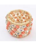 kolczyki srebrne z kryształem i perłami