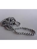 Naszyjnik z pereł - jasny srebrny Naszyjnik z pereł - jasny srebrny