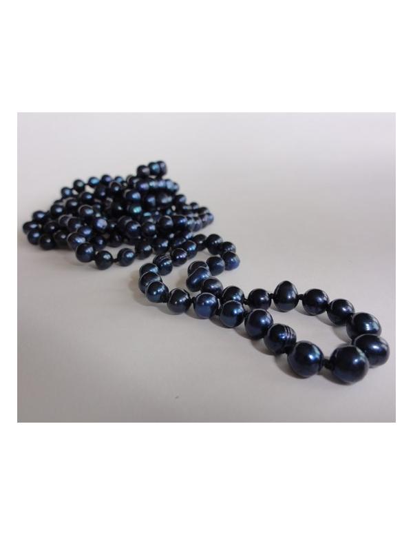 Naszyjnik z pereł - kobalt Naszyjnik z pereł - granat