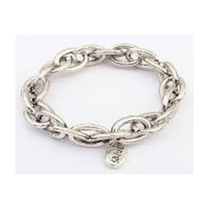 Bransoletka srebrny łańcuch charm