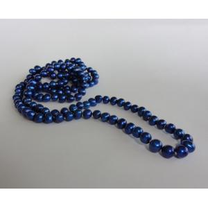 Naszyjnik z pereł - kobalt
