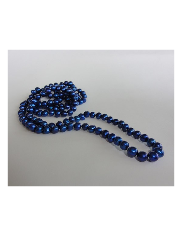 Naszyjnik z pereł - kobalt Naszyjnik z pereł - kobalt