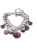 Bransoletka w kolorze srebra i fioletu Bransoletka w kolorze srebra i fioletu