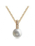 Naszyjnik Naszyjnik z zawieszką w kształcie perły