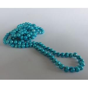 Naszyjnik z pereł - turkus niebieski