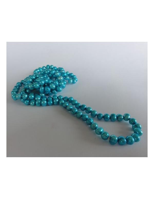Naszyjnik z pereł - turkus niebieski Naszyjnik z pereł - turkus niebieski