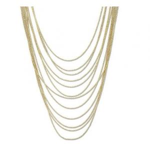 Naszyjnik z łańcuszków w kolorze złota