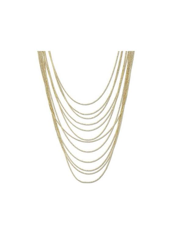 Naszyjnik z łańcuszków w kolorze złota Naszyjnik z łańcuszków w kolorze złota