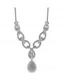 Naszyjnik w kolorze srebra z kryształkami Naszyjnik w kolorze srebra z kryształkami