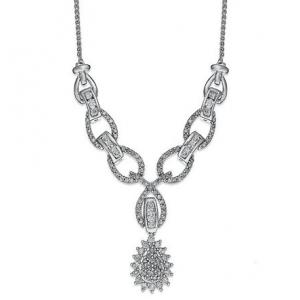 Naszyjnik w kolorze srebra z kryształkami