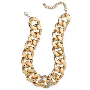 Łańcuch w kolorze złotym z kryształkami
