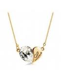Naszyjnik serce z kryształem Naszyjnik serce z kryształem