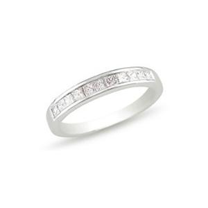 Srebrny pierścionek - obrączka  z białymi kamieniami