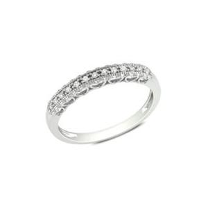 Srebrny pierścionek z białymi kamieniami