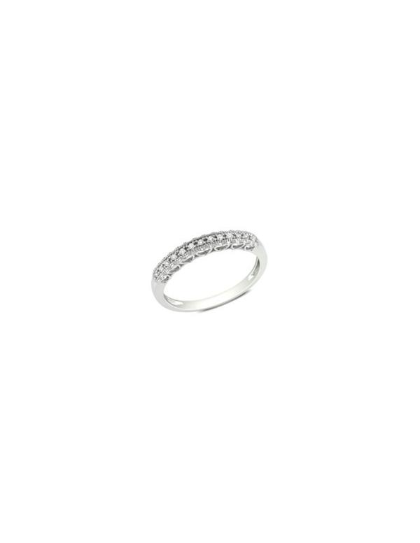Srebrny pierścionek z białymi kamieniami Srebrna obrączka z białymi cyrkoniami