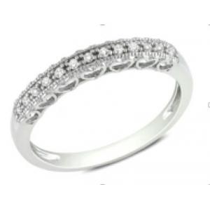 Srebrny pierścionek z białymi cyrkoniami Srebrna obrączka z białymi cyrkoniami