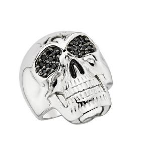 Srebrny pierścionek z czaszką