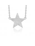 Naszyjnik z gwiazdą Srebrny naszyjnik celebrytka z gwiazdką