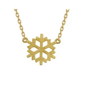 Srebrny naszyjnik celebrytek śnieżynka