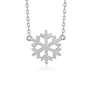 Srebrny naszyjnik celebrytek śnieżynka Srebrny naszyjnik celebrytka śnieżynka
