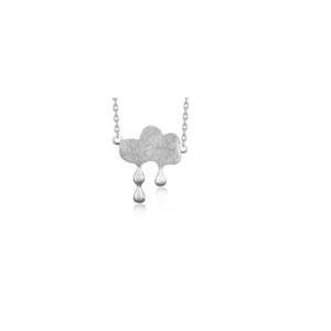 Srebrny naszyjnik celebrytek chmura deszczowa Srebrny naszyjnik celebrytka chmura deszczowa