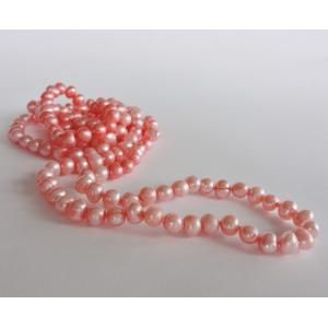 Naszyjnik z pereł - koral melanżowy