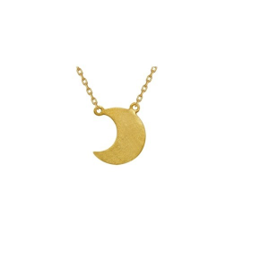 Srebrny naszyjnik celebrytek księżyc