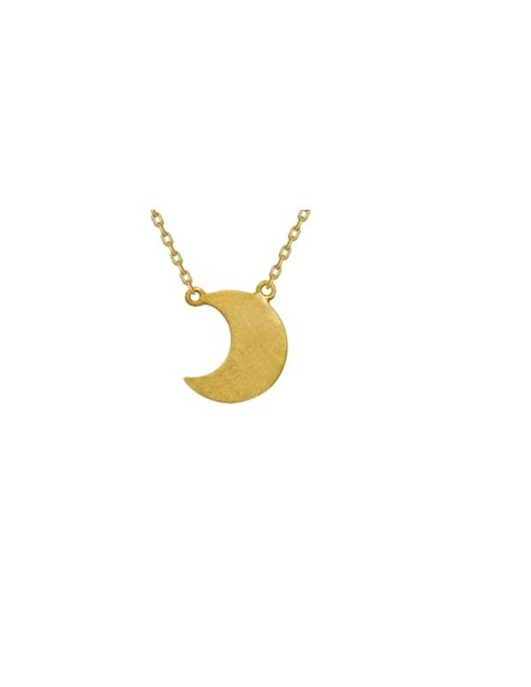 Srebrny naszyjnik celebrytek księżyc Srebrny naszyjnik celebrytek księżyc
