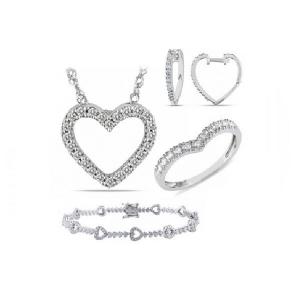 Srebrna bransoletka serca z białymi cyrkoniami Srebrna bransoletka serca z białymi cyrkoniami