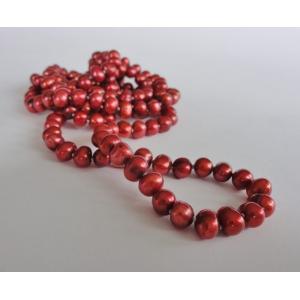Naszyjnik z pereł - złota czerwień