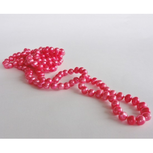 Naszyjnik z pereł - różowy koral