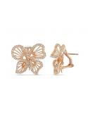 Kolczyki motylki - pozłacane różowym złotem Kolczyki motylki - pozłacane różowym złotem