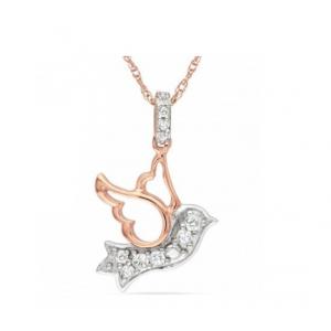 Zawieszka koliber - pozłacane różowym złotem