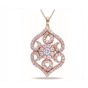 Ażurowa zawieszka - pozłacana różowym złotem