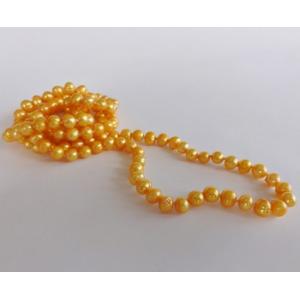 Naszyjnik z pereł - żółty słoneczny